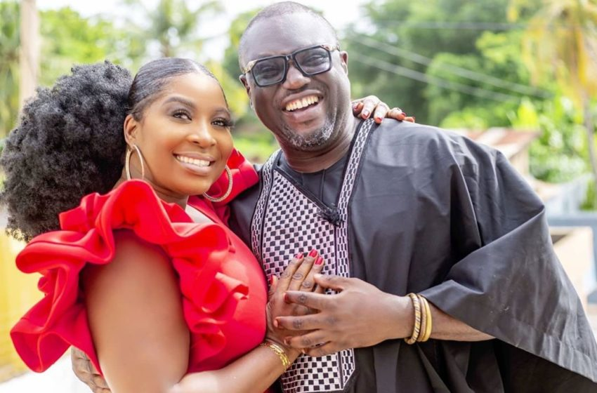 The New Celebrity Couple In Town, Gloria Sarfo And Master Richard Spotted Together At Bishop Bernard Nyarko's Funeral – See Photos