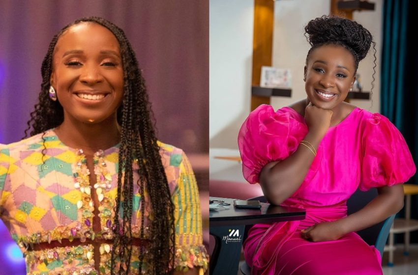 Naa Ashorkor Gets New Job; Joins Asaase Radio (See Beautiful Photos Of Her First Day At Work)