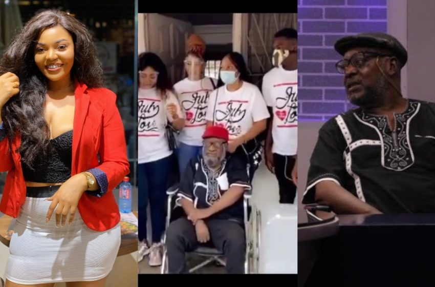 Actress Gifty Asante & Team Show Massive Love To Veteran Actor Kojo Dadson As They Donate To Him (Watch Video)