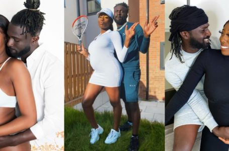 UK-based Ghanaian Dancer Global Boga Marks Birthday Of Late Girlfriend Nicole Thea And Son Who Died Recently With Massive Tattoo And Balloon Release (See Photo And Video)