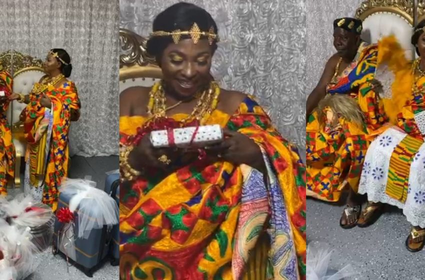Exclusive Photos From The Traditional Marriage of Veteran Actress Kyeiwaa Pop Up (See Beautiful Photos)