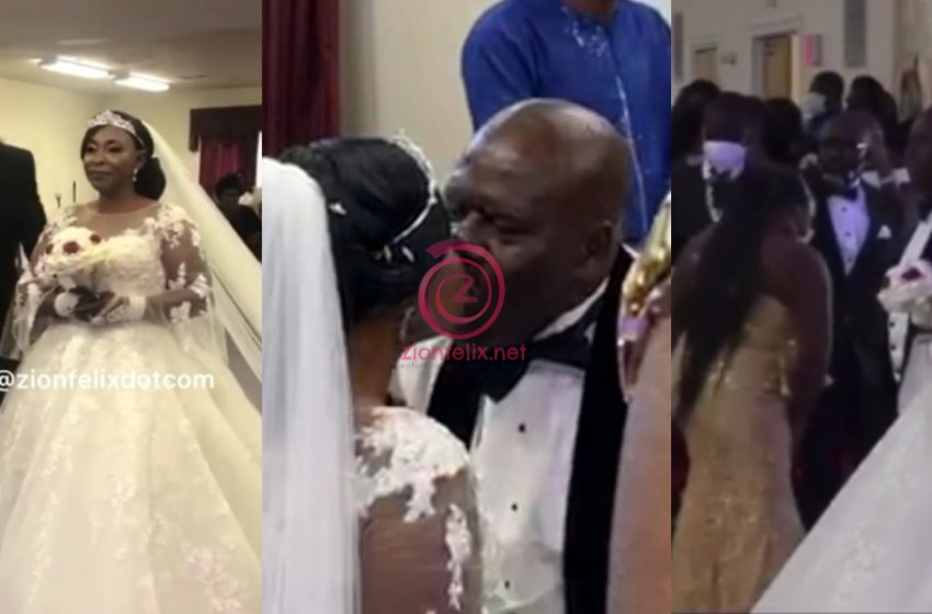 Video Of The First Kiss Between Kyeiwaa And Her Husband Mr. Kissi Stirs Lovely Reactions Online (Watch)