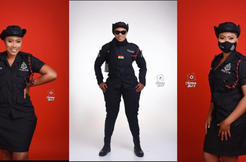 Ghana's Most Beautiful Police Officer Maya Drops Stunning Photos On Social Media (See How Pretty She Looks)