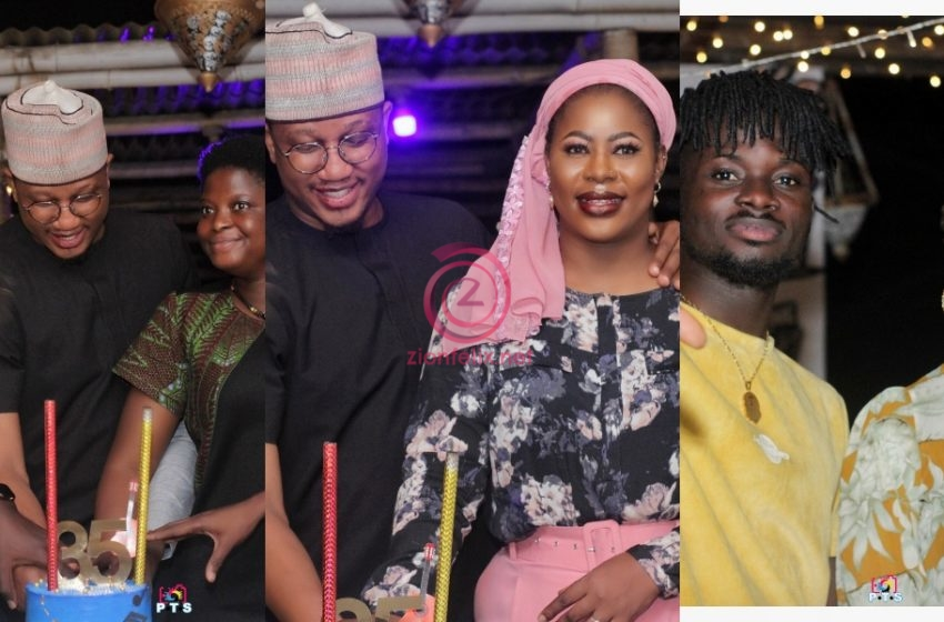 Wife Of CEO Of 3 Music Awards Sadiq Abdulai Abu Throws Surprise 35th Birthday Party For Him; Celebs Attend (See Photos)