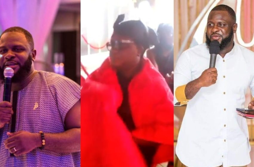 Late Kwadwo Wiafe's Mum Weeps Sorrowfully As She Buries Her Only Child Today (Watch)