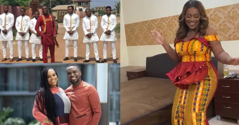 Watch how celebrities spray cash on Joe Mettle as he dances with his wife(Video)