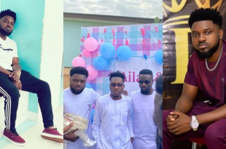 Rapper Donzy Hold Beautiful Naming Ceremony For His Twins; Sarkodie, Akuapem Poloo, Other Stars Attend (See Lovely Photos)