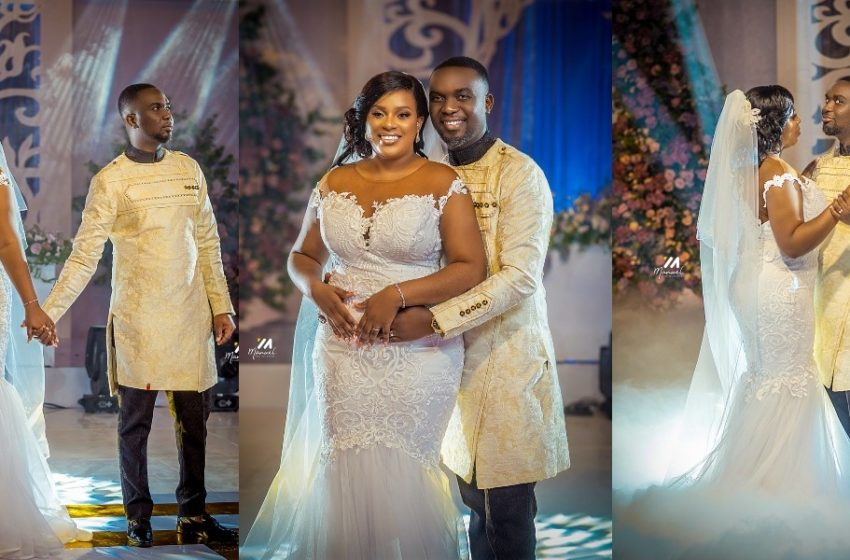 Official Photos From The White Wedding Of Joe Mettle And Salomey Selassie Dzisa Pop Up (See)