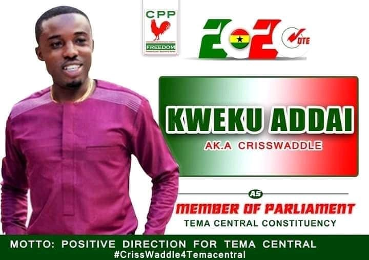 Criss Waddle Breaks Silence On Reports That He Is Contesting For MP In Tema West Constituency