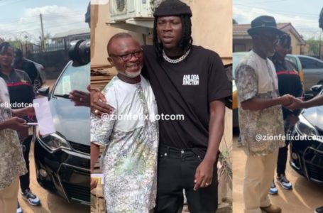 Stonebwoy And Aisha Modi Donate Brand New Car To Veteran Music Producer Agiecoat (Watch Videos)