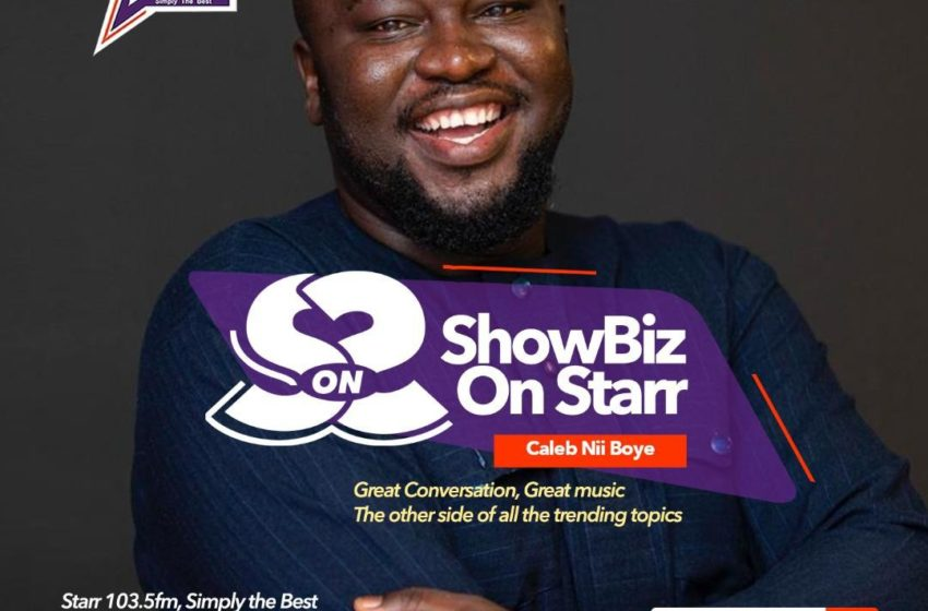 Caleb Nii Boye Takes Over Starr FM's Entertainment Show