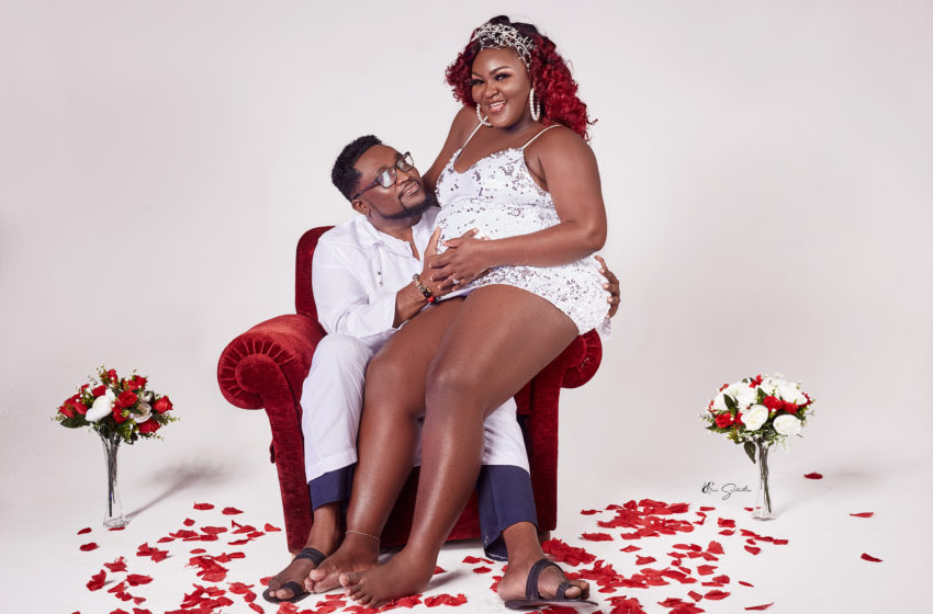 Popular On-Screen Personality AJ Pounds Drops Beautiful Baby Bump Photos With Handsome Husband (See)