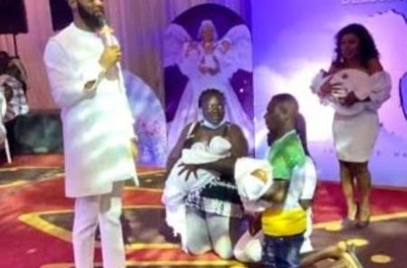 Rev Obofour Dashes House, Car And Money To Husband And Wife Who Can't Take Care Of Their Triplets – Watch Video