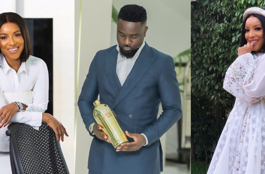 Sarkodie Spotted Having A Good Time With On-Screen Goddess Joselyn Dumas At Her Plush Birthday Party (Watch Video)