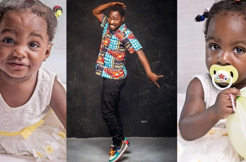 We Will Unite Again – Funny Face Says As He Celebrates His Twin Girls Ella And Bella (See Adorable Photos And Video)