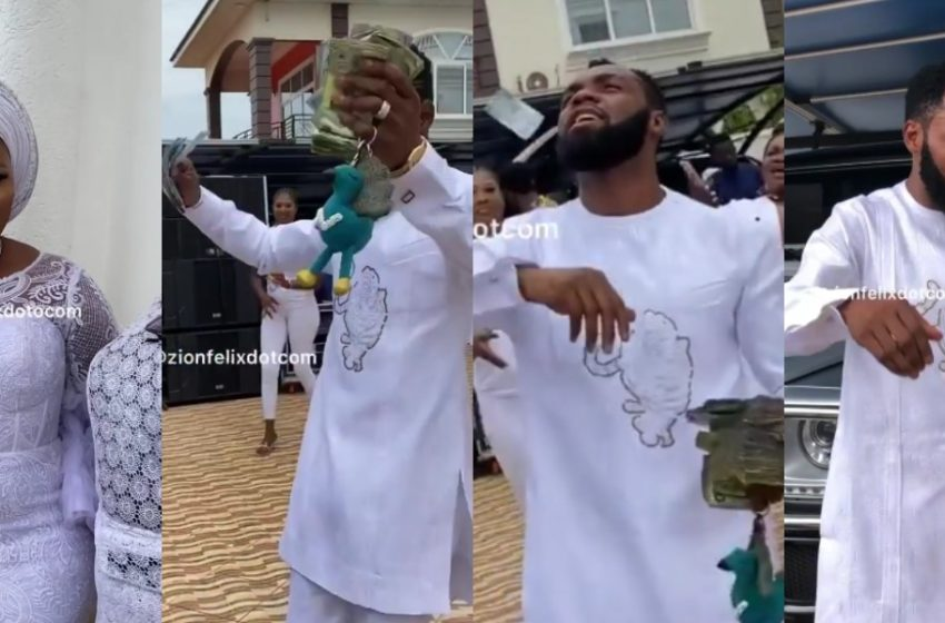 Rev Obofour And Wife Bofowaa Hold Expensive Private Naming Ceremony For Their Triplets; Money Flows On Attendees (Watch Videos)
