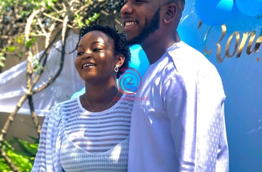 Coded! YOLO Star, Aaron Adatsi And His Baby Mama Secretly Outdoor Their First Child – See Photos