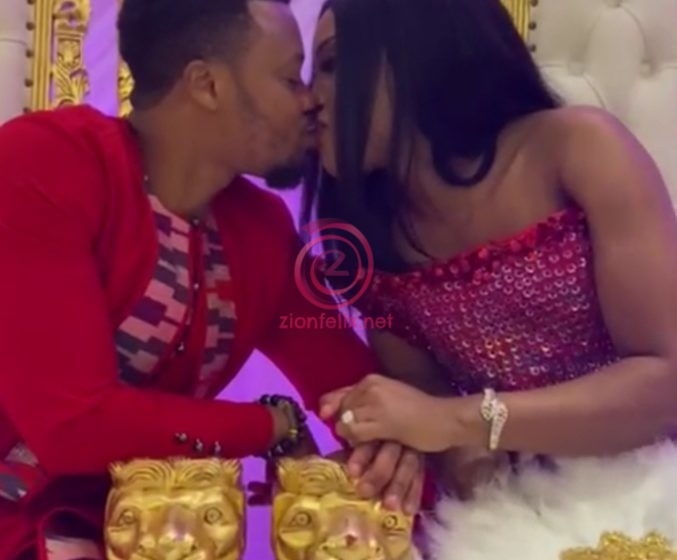 Video Of Actress Baby Blanche And Handsome Husband Sharing Passionate Kiss At Wedding Drops (Watch)