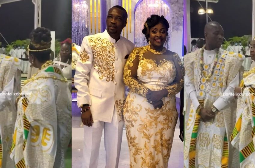 Rev Ismaila And His Wife Dance To Shatta Wale's Song At Plush Wedding Renewal Ceremony (Watch Video)