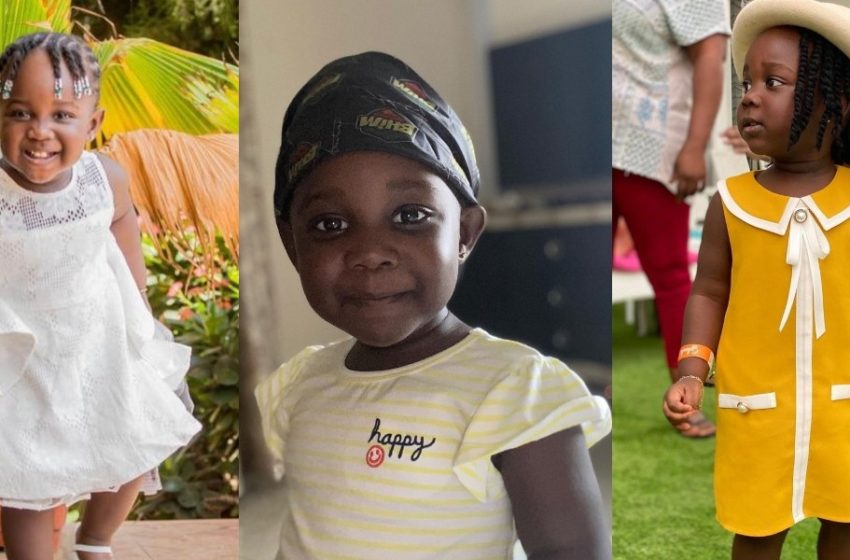 Stonebwoy's Daughter Jidula Stuns Social Media With Lovely Africa-Inspired Photos (See)