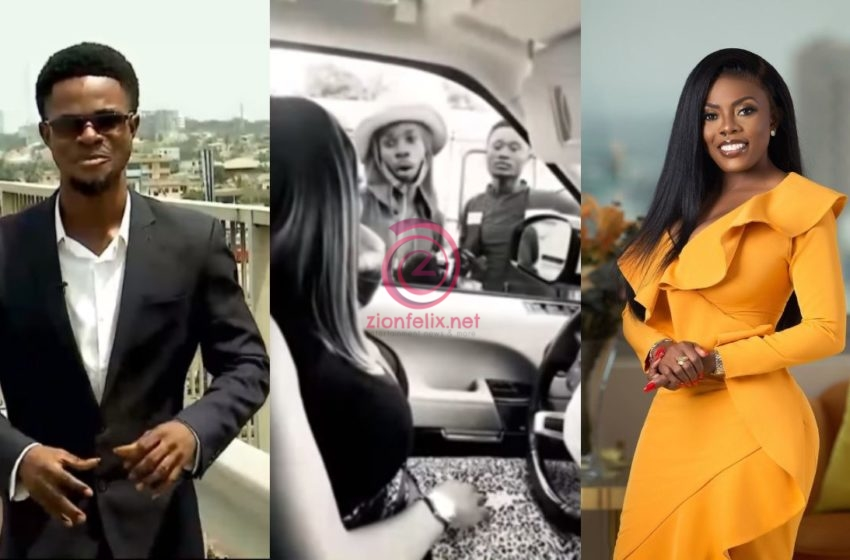 First Photos Of 2Kay, The Street Hawker Nana Aba Helped Looking Very Dapper And Fresh Surface Online As He Reports For Work