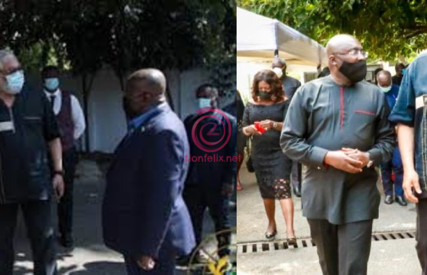 President Akufo-Addo, Bawumia Join NDC To Mourn Late Jerry Rawlings; Suspend Campaign Activities And Declare A Week Of Mourning