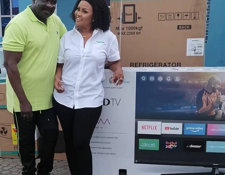 McBrown Dashes Koo Fori TV, Fridge, Other Appliances After His House Burnt – See Photos