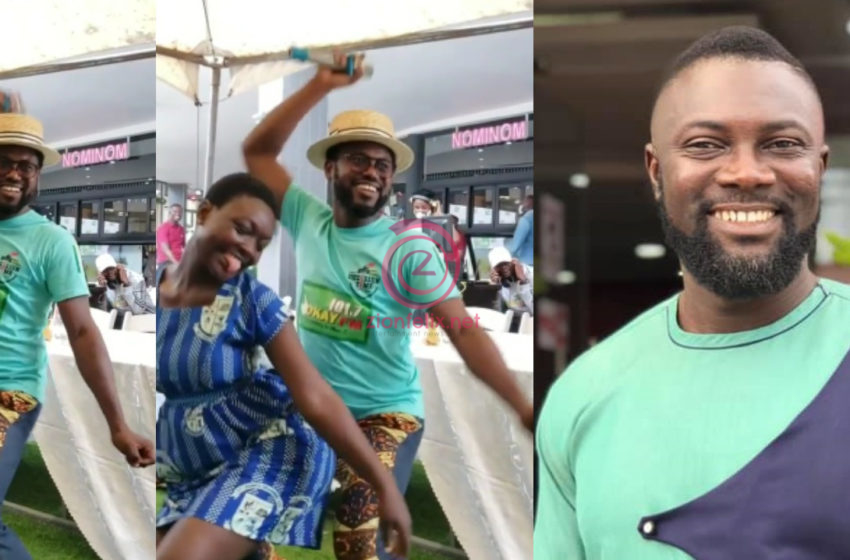 Controversial Adom FM Presenter Reacts To Viral Video Of Abeiku Santana Grinding SHS Students In Public – Video
