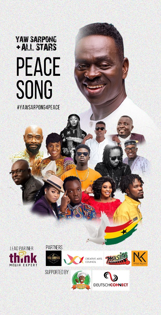 Visuals Of Yaw Sarpong & Asomafo – Peace Song Feat. All-Stars Released (Watch)