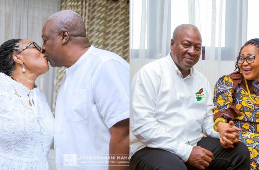 Lordina Mahama Celebrates John Mahama As He Turns 62 Years Old Today (See Photos)