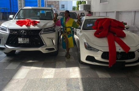 Billionaire Husband Of Ghanaian Businesswoman Amanda Gifts Her Two Expenisve Cars (See Photo)