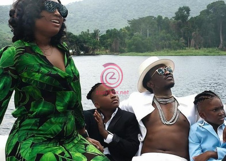 Ghanaian Millionaire, Nana Kwame Bediako Shares Stunning Photos Of His Beautiful And Kids Online As They Chill In Akosombo (Photos)