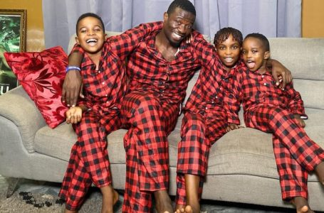 Kwaku Manu And His Beautiful Kids Run For Their Lives As Firecracker He Lighted Nearly Destroys His House (Video)