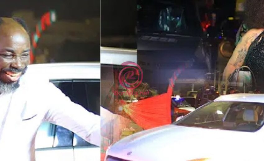 Nana Agradaa Gifts Actor Big Akwes Third Car, A New Mercedes Benz Car For Ditching Acting To Be His Presenter (Video)