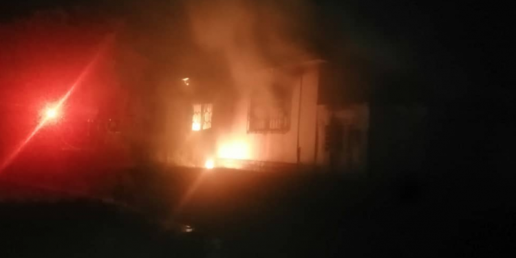 Just In! Fire Guts EC Office In The Heat Of Election 2020