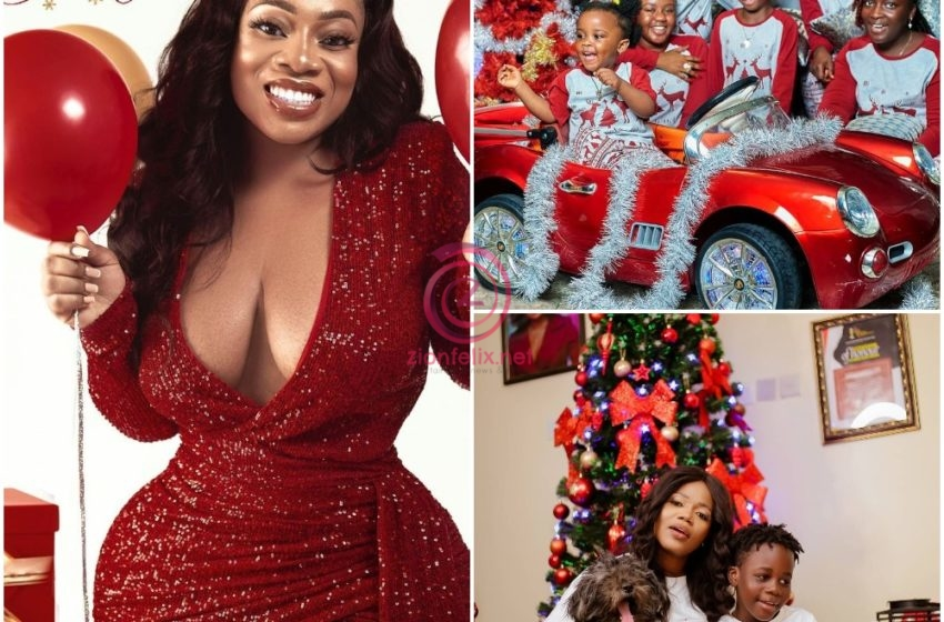 Popular Ghanaian Celebrities Paint Instagram Red And White With Stunning Christmas Photos