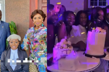Videos From The Plush Graduation Party Organized For Dr. Ernest Ofori Sarpong's Daughter, Mandy After Graduating From Law School Hits Online