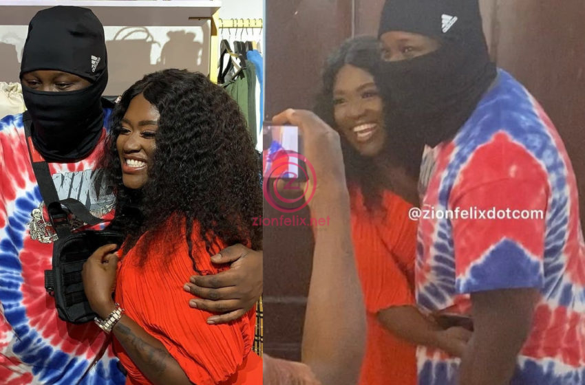 Couple Goals! Medikal And His Wife, Fella Makafui Romance Publicly As She Opens New Shop (Videos)