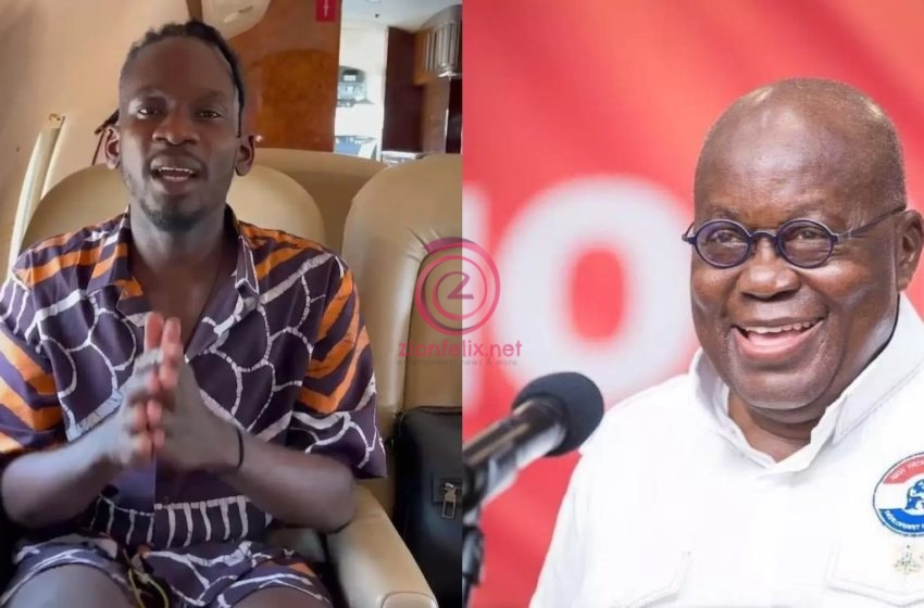 Mr Eazi Asks President Akufo-Addo To Help Find His Laptop Which Got Stolen In Accra
