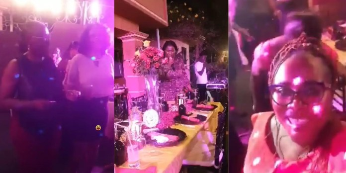 Video Of Plush Party Of Some Top NDC Members In Accra While Party Foot-soldiers Clash With Police Over Election Result Surface Online (Video)