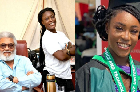 Former Prez. Rawlings' Girl Graduates As The 2020 Valedictorian Of Regent University And Weeps As She Dedicates Her Speech To Him (Videos)