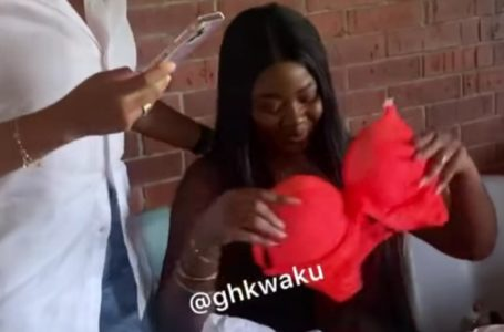 Actress Nikki Samonas Shocks The World As She Gives Her Female Friend, Salma Mumin Red 'P@Nties' On Her Birthday (Video)