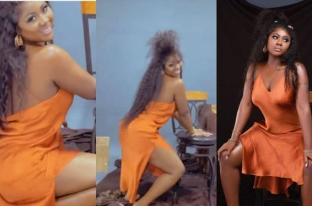 Salma Mumin Flaunts And Shakes Her Back For The Cameras (Video)