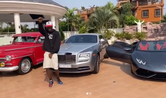 Joey B Flaunts Expensive Cars To Celebrate After His New Jam With Sarkodie Clocked 500K Streams (Video)