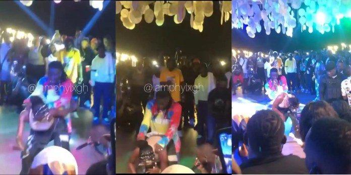 H0T! Stonebwoy Mercilessly Grinds The Improved Backside Of Efya Publicly While His Wife Looks On (Video)