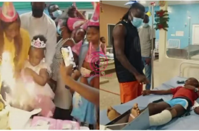 Stonebwoy Pays Bills Of Children Admitted At 37 Military Hospital As His Daughter-Jidula Marks Her 3rd Birthday (+Video)