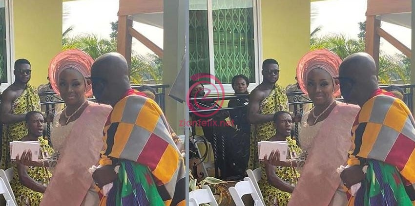 Unseen Photos From The Traditional Wedding Ceremony Of President Akufo-Addo's 53 Years Old Executive Secretary, Nana Asante Bediatuo And Nigerian Wife, Femi Surface Online