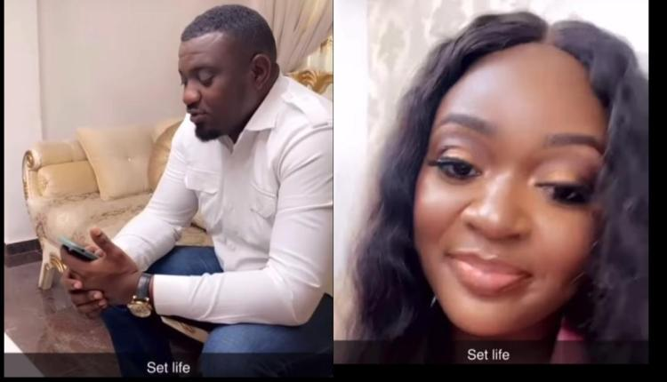 John Dumelo Spotted On Set With Jackie Appiah As He Goes Back To Acting After Losing Parliament Race (Video)