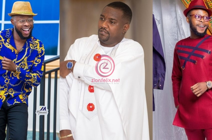 """""""Gyimifou!!! Pray Hard Your Party Retains Power"""" – Ghanaians Jab Kalybos For Teasing John Dumelo And Asking Him To Vote For NPP In Viral Video (See Reactions)"""