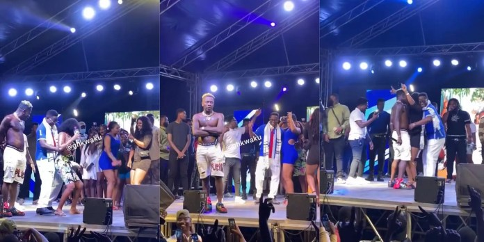 Ghana's Energy Minister And MP Elect Of Hohoe, Peter Amewu Caught On Camera Grinding The Back Of Heavy Ladies At Shatta's Concert (Video)